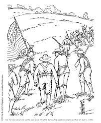 veterans day coloring pages spanish american war san juan hill