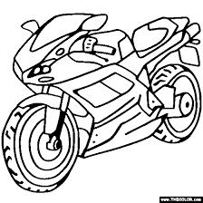 ducati sportbike motorcycle coloring kids