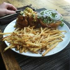 oak table columbia sc shrimp burger truffle fries oak table columbia sc the april blake