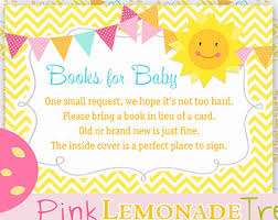 Books Instead Of Cards For Baby Shower Poem View Diaper Raffle Book Cards By Pinklemonadetree On