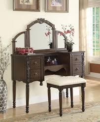 Bedroom Vanity Table Acme 06540 Ashton Oak Finish Wood Make Up Bedroom Vanity Set