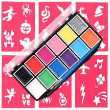 face paint kit for kids 12 vibrant color mega size palette 3
