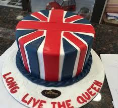 british flag circle cake
