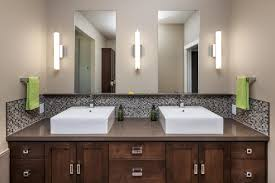 Backsplash Bathroom Ideas by Marrone Brown Glass Bisazza Mosaic Bathroom Backsplash Tiles Idea