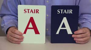 braille stairs signs braille exit stair signs