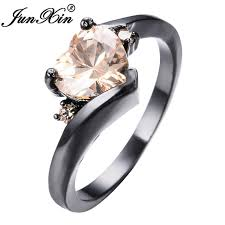 aliexpress buy junxin new arrival black aliexpress buy junxin vintage small heart aaa zircon rings