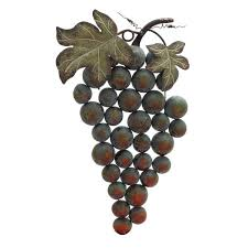 cluster of grapes wall decor