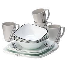 corelle square 16pc dinnerware set simple sketch target