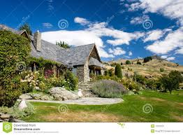 Houses In The Hills Beautiful House On A Hills Stock Image Image 13207631