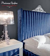 double bed headboard traditional fabric minimal baroque
