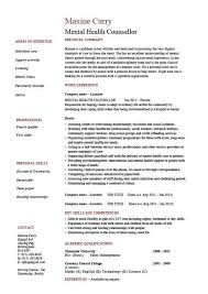 College Counselor Resume In Home Counselor Cover Letter