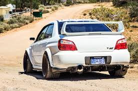 subaru wrx custom 2007 subaru impreza wrx sti rear view dusty road stance