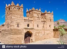 traditional kasbah mud fortress mud brick building of the berber