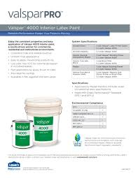 valspar 4000 interior latex paint valspar pdf catalogues