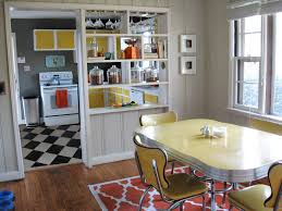 kitchen style retro kitchen ideas black and white floor tile