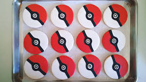 le shoppe pokeball cake pops cookies for a pokemon birthday