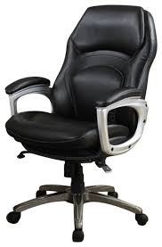 serta back in motion executive office chair in black bonded