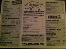 bodeans menu picture of bodean s bbq soho tripadvisor