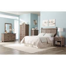 Sauder Nightstand Oak Sauder Harbor View 6 Piece Bedroom Set Salt Oak Furniture
