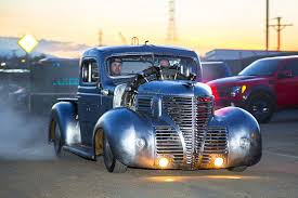 vintage volkswagen truck this airplane engine 1939 plymouth pickup is radically radial