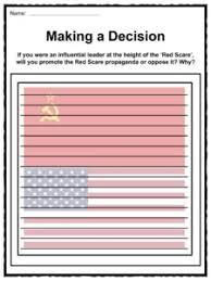 red scare facts worksheets u0026 political information for kids