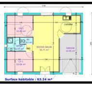 plan de maison plain pied 2 chambres plan maison moderne plain pied 4 chambres