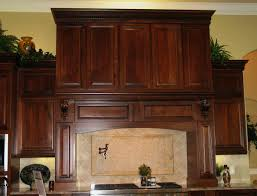 kitchen fresh plants decor on top wooden cabinet beside nice