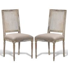 French Style Patio Furniture by French Louis Cane Square Back Chairs French Country Distressed