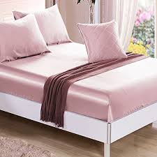 bed sheet quality ellesilk suede rose silk fitted sheet high quality seamless