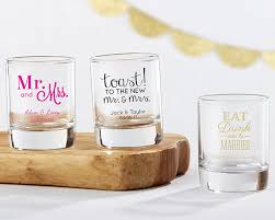 personalized glasses wedding personalized glass wedding favors glass bridal favors
