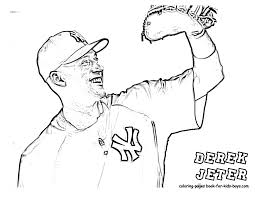 sweet design ruth coloring pages derek jeter baseball picture