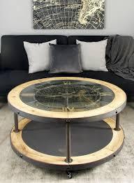 Clock Coffee Table Cole Grey Metal And Wood Clock Coffee Table Reviews Wayfair