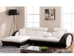 canape blanc noir canapé angle gauche blanc structure commandeur