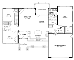 craftsman floor plan house plan 94182 at familyhomeplans com