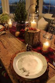 Christmas Table Decoration Ideas With Candles by Decoration Festive Christmas Decor Design To Keep Your House