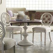 hooker dining room furniture melange brynlee wood round dining table in walnut white by