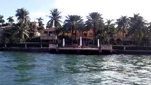 Celebrity Houses In Miami Beach Celebrity Homes On Miami Boat Tour Youtube