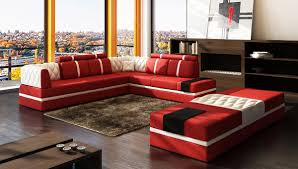 modern bonded leather sectional sofa the marvelous red and white modern bonded leather sectional sofa