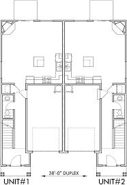narrow lot duplex house plans two story duplex house plans
