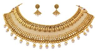 gold choker necklace set images Buy traditional bridal one gram gold plated pearl designer choker jpg