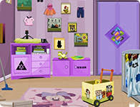 messy baby room escape games