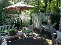 Privacy Walls For Patios by Patio Fences With Wooden Privacy Panels Decorating Ideas Home