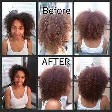 before and after of my deva cut done by ashli walker yelp