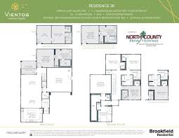 Single Family Home Floor Plans Vientos At Rancho Tesoro New Home Floor Plans North County New Homes