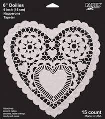 heart shaped doilies white heart shaped doily 6in 15ct parties4kids