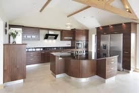 modern design kitchen cabinets glossy dark floor traditional