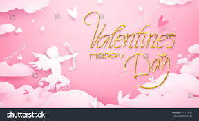 valentine s day cute valentines day greeting card cupid stock vector 765143206