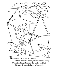 bluebonkers nursery rhymes coloring page sheets rock a bye