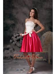 modest white and pink junior prom dress mini length taffeta
