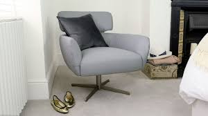 small leather armchair swivel brushed steal base uk
